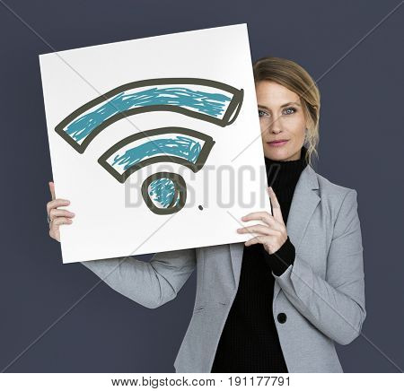 Wifi signal internet wireless connection