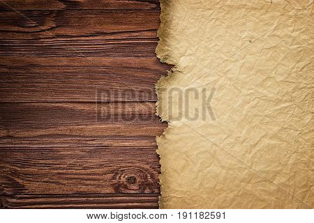 Ancient Manuscript Against The Background Of Wooden Boards