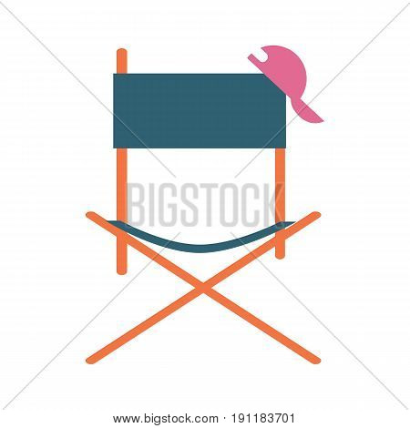 Director movie chair vector icon. Cinema produce vector illustration isolated on white background.