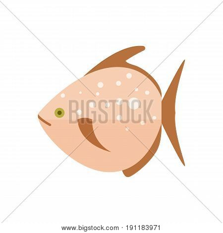 Sea fish icon. Natural fresh food, healthy food vector illustration isolated on white background in flat design.