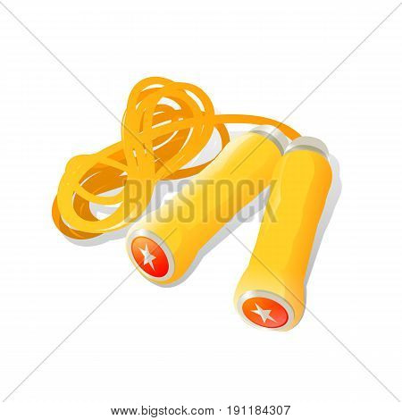 illustration of skipping rope on white background