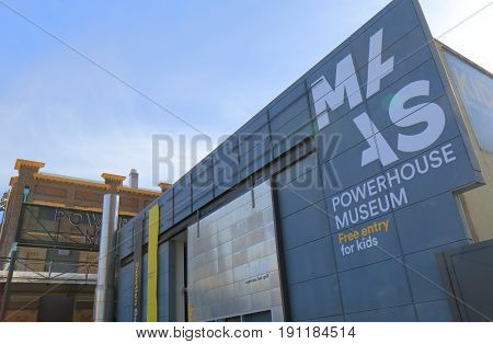SYDNEY AUSTRALIA - MAY 30, 2017: Powerhouse museum. Powerhouse museum is the major branch of the Museum of Applied Arts & Sciences in Sydney.
