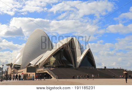 SYDNEY AUSTRALIA - MAY 31, 2017: Iconic Sydney Opera house in Sydney Australia