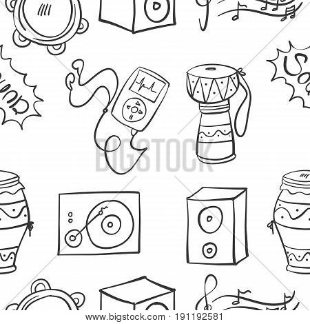 Collection stock of music doodles vector illustration