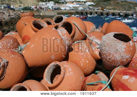 Stack Of Fishing Pots