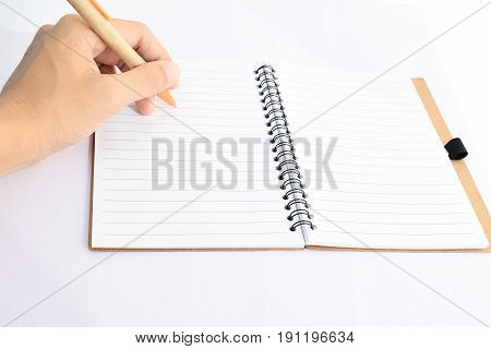 Write down or start writing about business.
