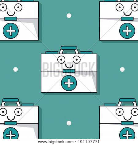 colorful background with pattern of first aid kit animated vector illustration