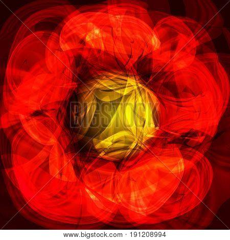 Twirl luminous light red yellow background. Vector background
