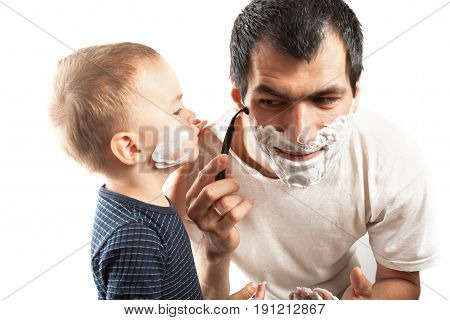 Father And Son Shaves