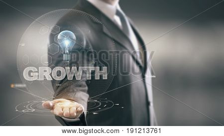 Business Technology Internet and network hologram concept