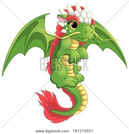 Beautiful chines dragon on a white background