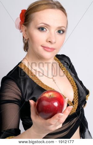 The Woman With An Apple