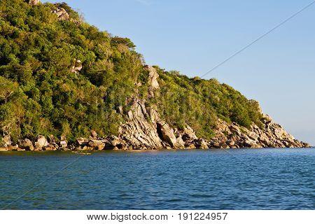 Stone  Thailand Kho Tao Bay    South China Sea