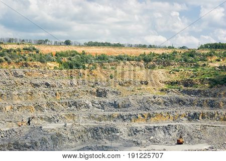 A quarry - an open-pit mining for rock in Ukraine.