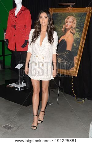 LOS ANGELES - JUN 14:  Shay Mitchell at the Made Here exhibit preview at the Warner Brothers Studio on June 14, 2017 in Burbank, CA