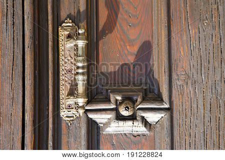 Abstract  House  Door     Italy  Lombardy     Closed  Nail Rusty