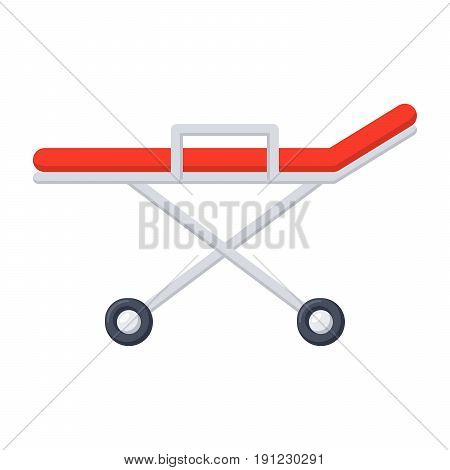Stretcher medical icon, vector illustration in flat style