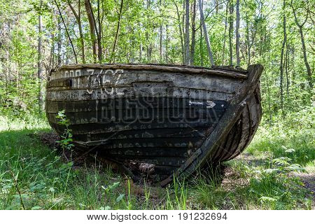 An Old Shipwreck Or Abandoned Shipwreck.