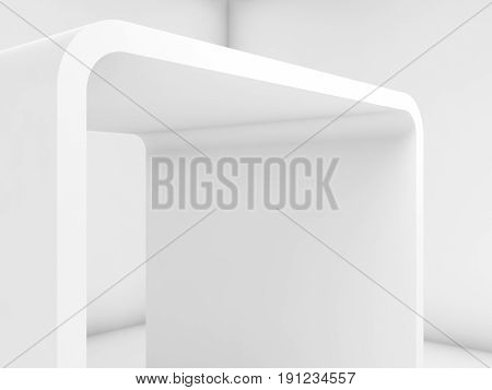 Abstract White Empty Interior, 3D Background