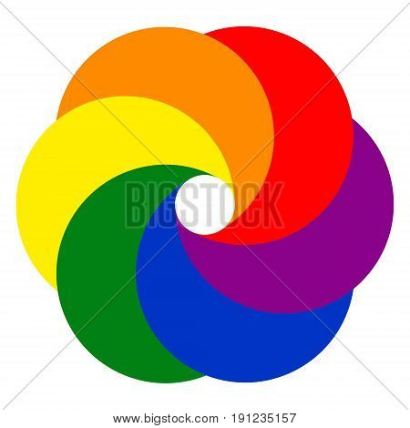 Logo template photo Studio video kaleidoscope vector colorful logo the lens aperture of the crescents