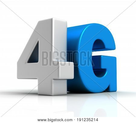 4G Text Isolated 3D Illustration