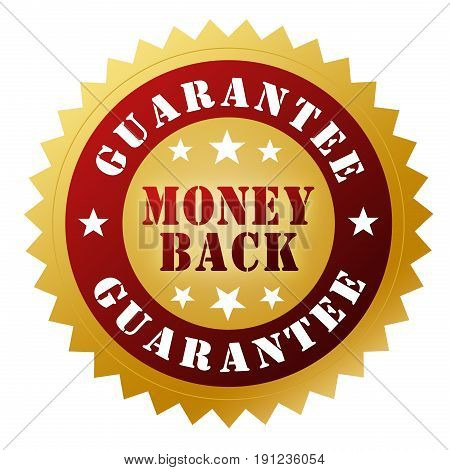 Money Back Guarantee Badge 3D Illustration
