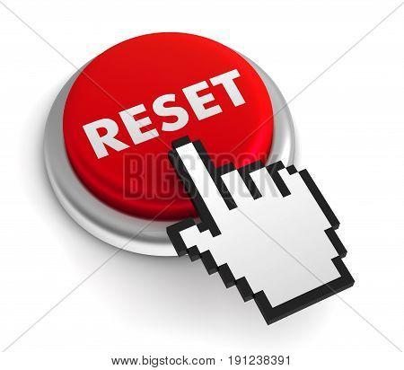 reset 3d illustration isolated on white background