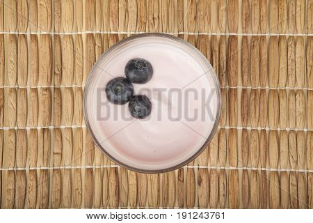 Glass Of Fresh Berries And Yogurt