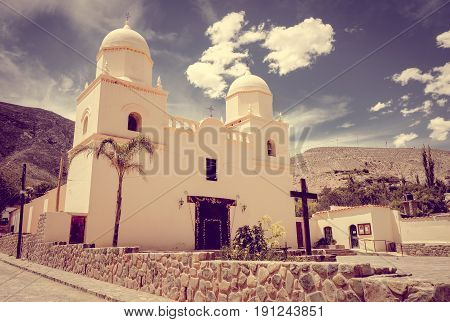 Tilcara city old church north Argentina south America