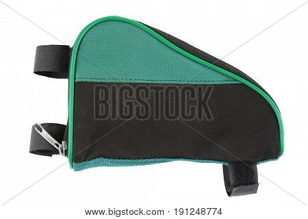 Bicycle bag on white background