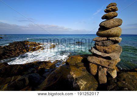 Lanzarote Coastline  Froth  Spain
