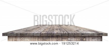 Wooden worktop surface with old natural pattern with clipping path. Vintage wooden material surface.