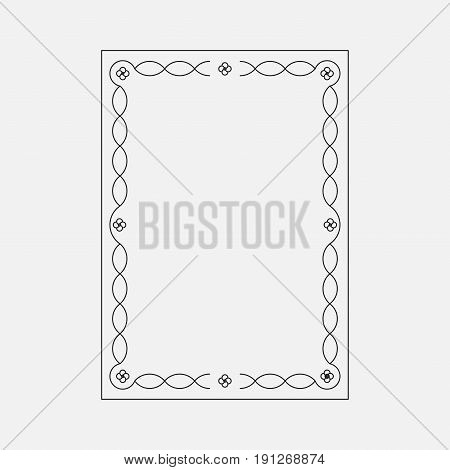 vector image abstract style decorative ornamental frame