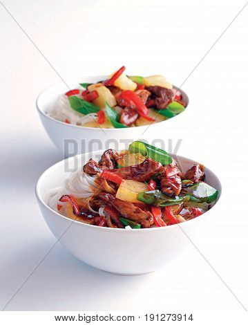 Chinese Cuisine Pork with Sour Sweet Sauce