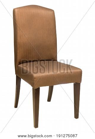 Fabric Chair Isolated On White With Clipping Path