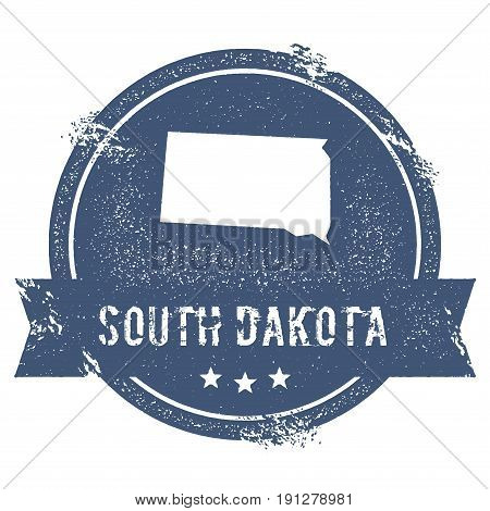 South Dakota Mark. Travel Rubber Stamp With The Name And Map Of South Dakota, Vector Illustration. C