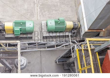 View on Industrial fumes ventilators system - Poland.