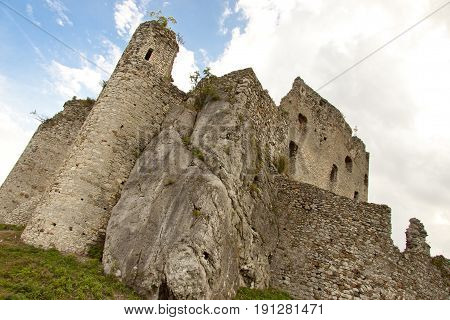 Mirow old Castle in Poland Silesia Region.