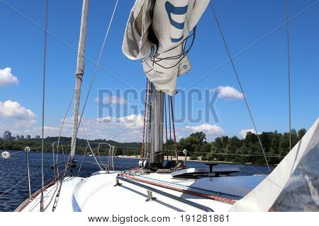 Sailing yacht race. pleasure boat. Yachting.yachting sport