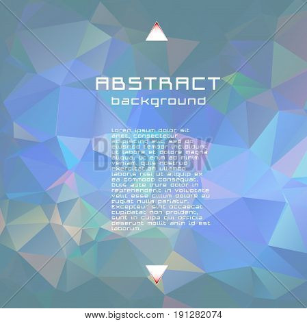 Abstract Textured Polygonal Vector Blurry Triangle Background.