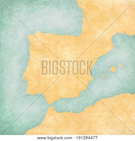 Map Of Iberian Peninsula - Blank Map