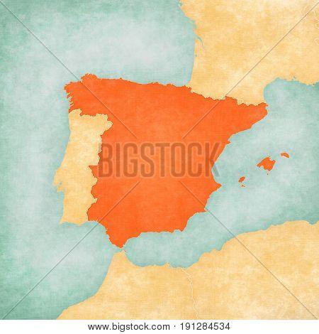 Map Of Iberian Peninsula - Spain