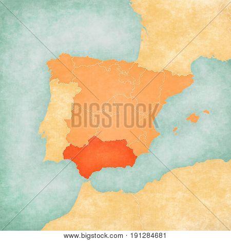 Map Of Iberian Peninsula - Andalusia
