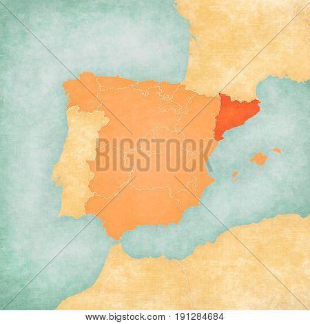 Map Of Iberian Peninsula - Catalonia