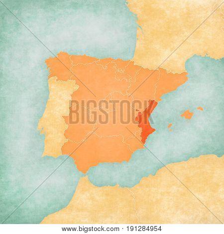 Map Of Iberian Peninsula - Valencia