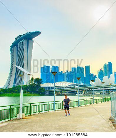 Man Running In Singapore