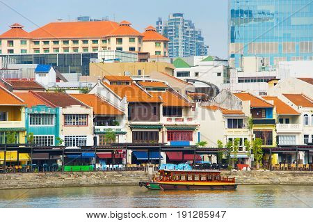 Boat Quay Overview, Singapore