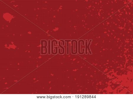 Damaged red texture. Rectangular grunge background. Vector illustration.