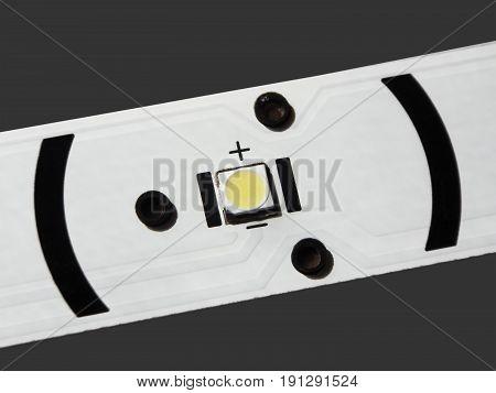 LED backlight LCD TV. LED with lens.