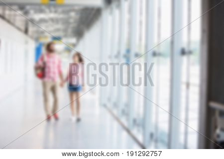 Lifestyle Blurred Background Concept: Friends on a city break vacation